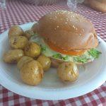 hamburguesa a la parrilla